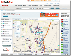 Foreclosure map for Lincoln Heights, OH