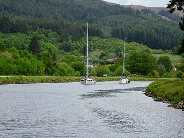 Eloise and Sealord in the Caledonian Canal