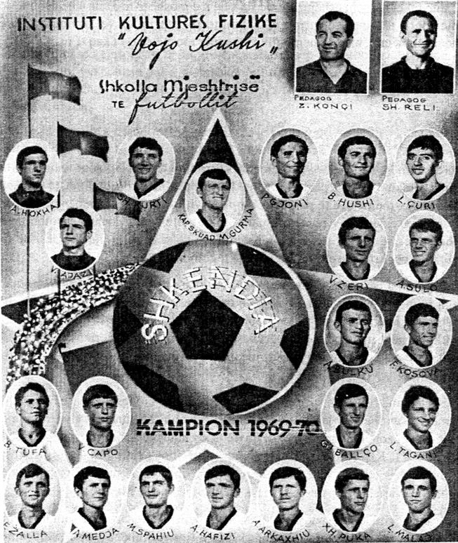 Shkendija, Campione D'Albania Juniores 1969 70