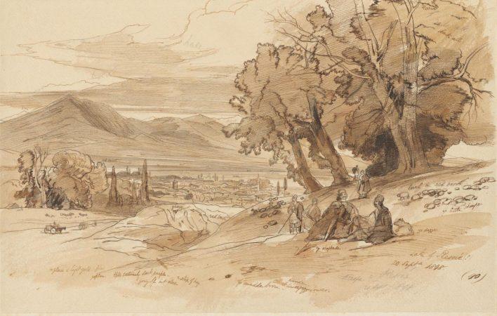 Disegno di Edward Lear Via Egnatia