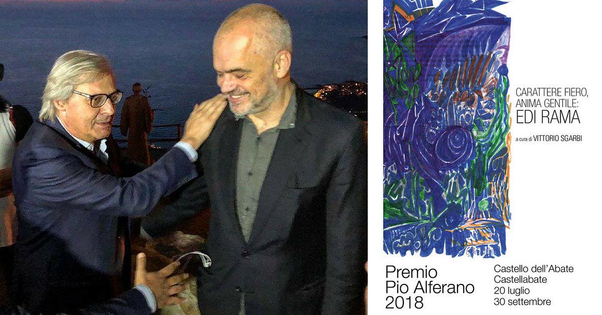 Vittorio Sgarbi E Edi Rama Premio Pio Alferano 2018 Opt