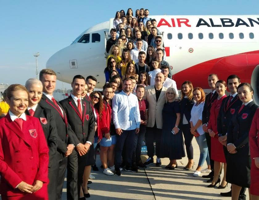 Air Albania all'aeroporto di Tirana