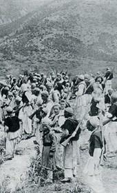 """Jäckh027: """"Albanians on the warpath in the mountains"""" (Photo: Ernst Jäckh, ca. 1910)."""