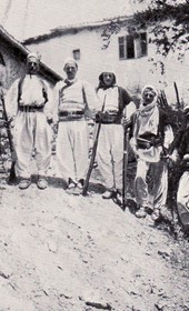 "Jäckh034: ""Albanian notables from the Hoti tribe in Traboina"" (Photo: Dr E. Schulz, Hamburg, ca. 1910)."