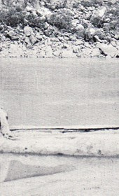 "Jäckh076: ""An Albanian canoe (double dugout) on the Drin River"" (Photo: Ernst Jäckh, ca. 1910)."