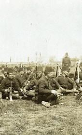 "Jäckh199: ""At the camp near Gostivar"" (Photo: Ernst Jäckh, ca. 1910. Courtesy of Rare Books and Manuscript Library, Columbia University, New York, 130114-0041)."