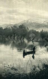 GM021: Flooding near the Drin River (Photo: Giuseppe Massani, 1940).