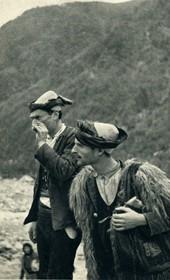 GM035: Two shepherds in Theth (Photo: Giuseppe Massani, 1940).