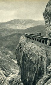 GM062: The road from Kruja to Burrel, over the Shtama Pass (Photo: Giuseppe Massani, 1940).