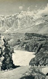 GM084: View of the mountains around Mount Çika in Himara (Photo: Giuseppe Massani, 1940).