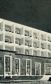 GM142: Sketch for Hotel Dajti, which was constructed and used as such until the 1990s (Photo: Giuseppe Massani, 1940).