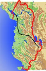 Route Montenegro–Nordostgriechenland