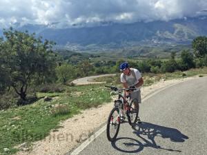 Mit dem Fahrrad unterwegs in Südalbanien