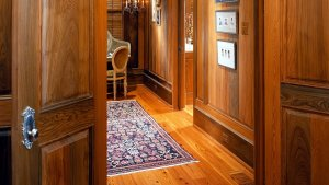 Cypress wall paneling reclaimed wood flooring