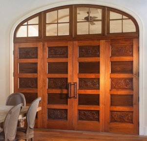 custom antique cypress door