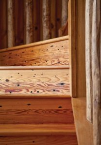 antique heart pine stairs