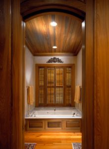 Cypress panels bathroom