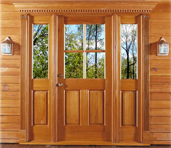 Antique Cypress Door and Moldings