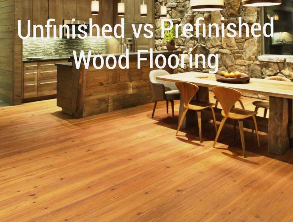 Unfinished wood flooring