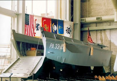 Reclaimed pine beam higgins boat WW2