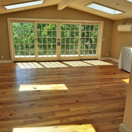 Attic Bedroom Pine Flooring