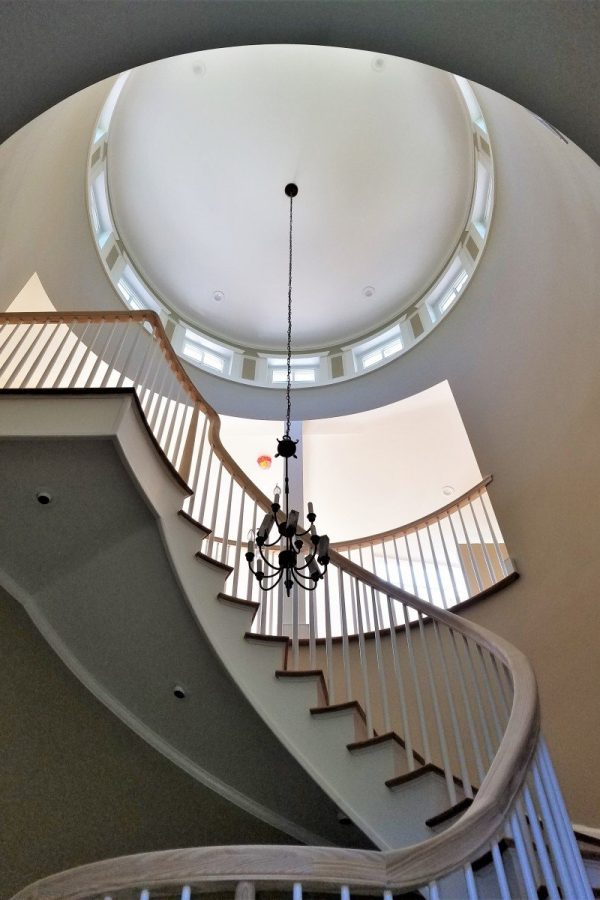 Heart Pine Spiral Stairs