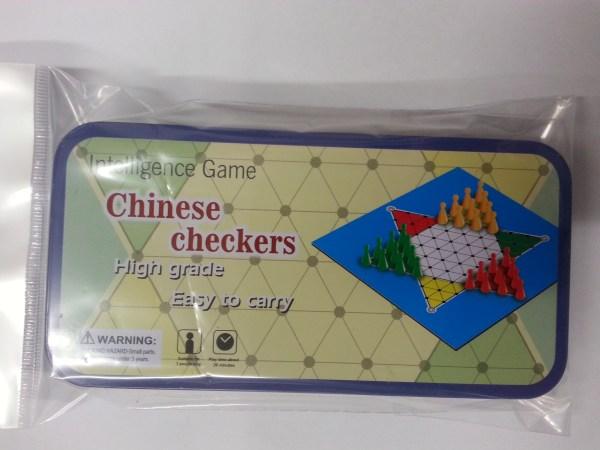 Dama Cinese in scatola di metallo tascabile