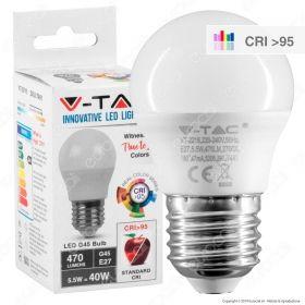 Lampadina LED E27 470lm Miniglobo G45 CRI>95 W5.5 (40w)
