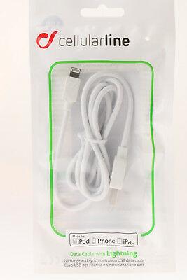 Cavo dati USB Lightning bianco Certificato MFI Cellularline