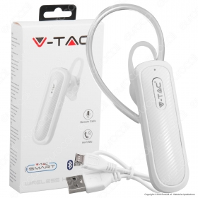 Auricolare Bluetooth Mono V-Tac Bianco