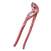 Pinza Poligrip Regolabile Rossa 250 mm