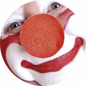 Naso Clown rosso in spugna - Carnevale