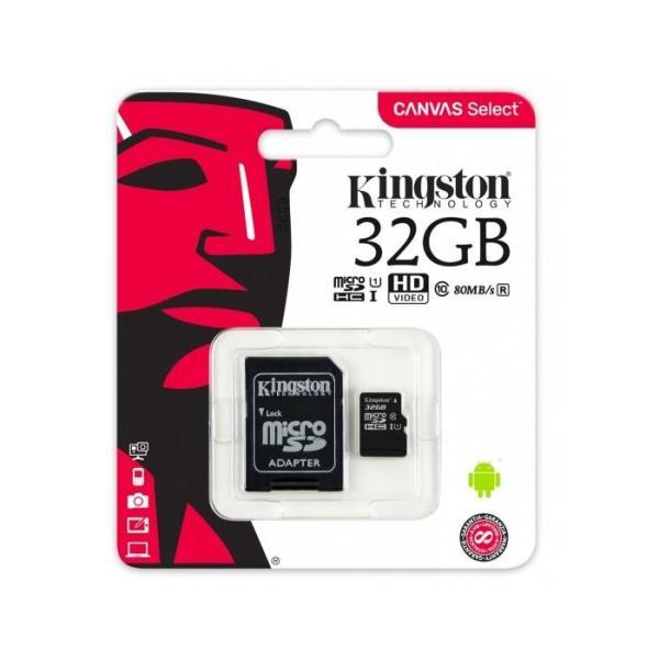 Scheda MicroSD da 32 GB Adattatore SD Incluso SDCS/32GB Kingston