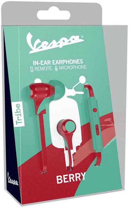 Tribe Auricolare con Microfono Swing Vespa Berry In-Ear jack 3.5mm