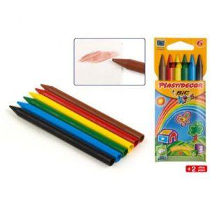 Pastelli a cera BIC Kids PLASTIDECOR® Pastello colorato extra pulito e resistente