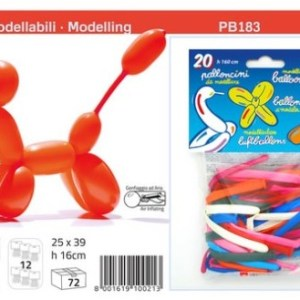 Busta 20 Palloncini modellabili 160cm colori assortiti