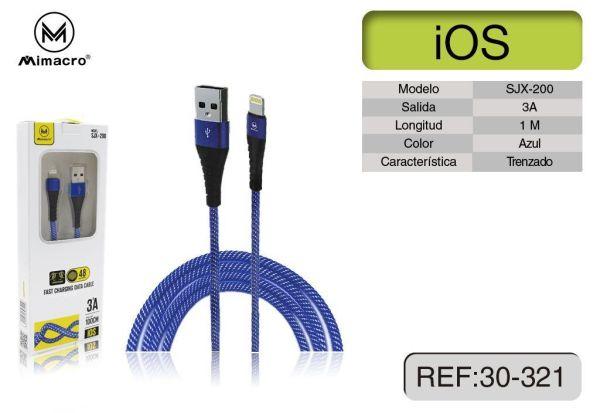 Cavo Ricarica Lightning per iPhone retato antistrappo 3A