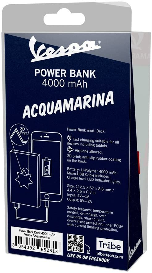 Power Bank 4000mAh Vespa Acquamarina