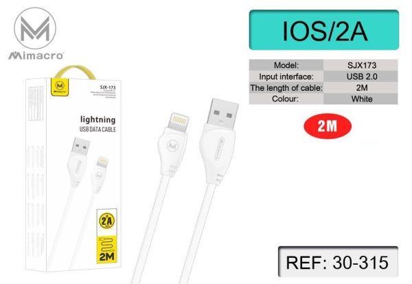 Cavo Dati e Ricarica Lightning 2 metri per iPhone