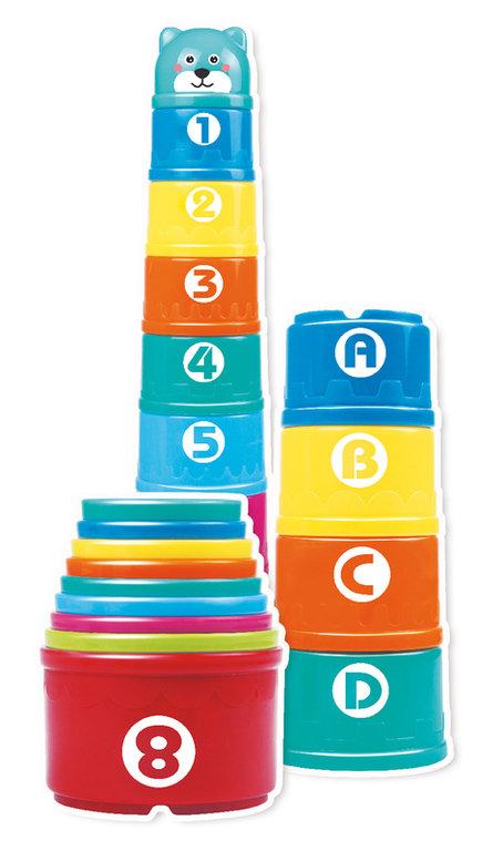 PrimiGiochi La Torre con 8 Cilindri Colorati