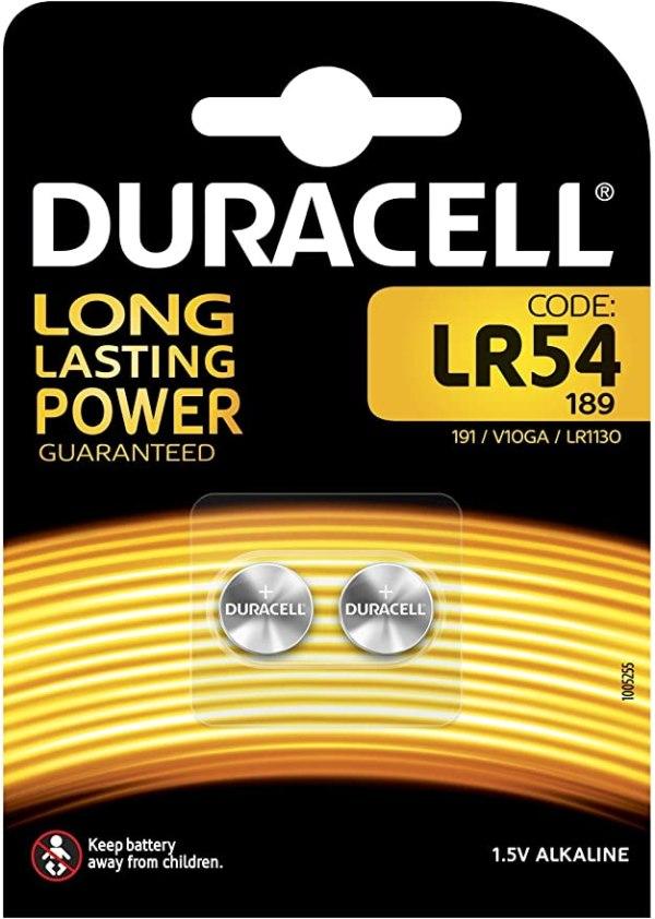 Batterie LR54 Duracell Alkaline 1,5V blister 2pz