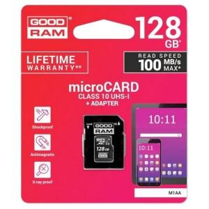 Scheda MicroSD da 128 GB Adattatore SD Incluso GOOD RAM