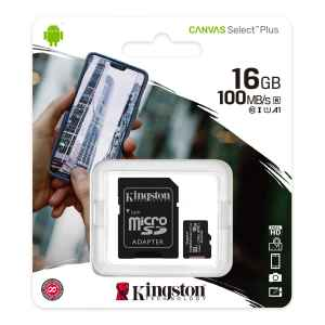 Scheda MicroSD da 16 GB Adattatore SD Incluso SDCS2/16GB Kingston Canvas