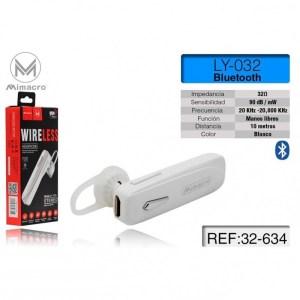 Auricolare Bluetooth Mono Bianco Mimacro