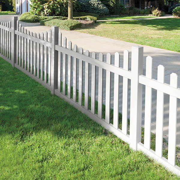 Vinyl 4' Dog Eared Fence with Dip