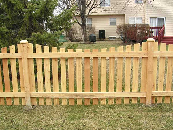 4' Flat Top Picket Fence with No Standard Posts