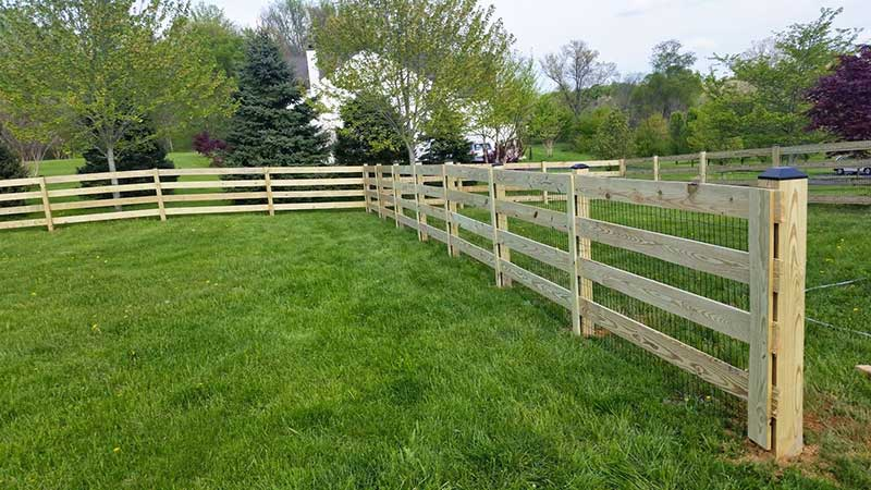 4 Board Paddock Fence with Wire