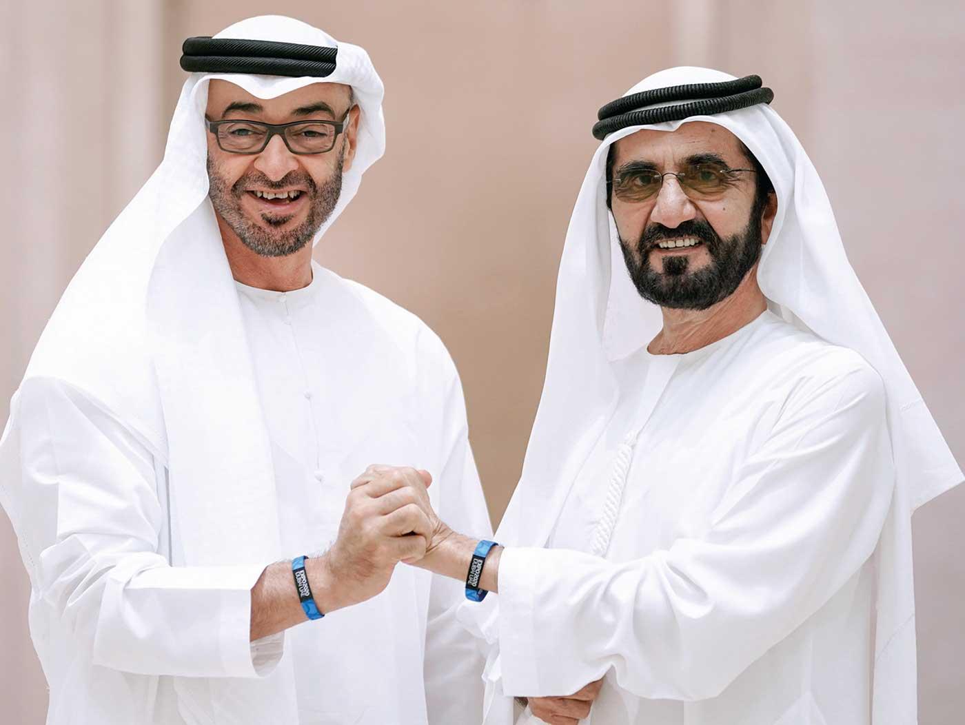 الشيخ محمد بن زايد مع الشيخ محمد بن راشد