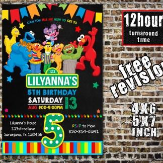 sesame street invitations, Sesame street birthday invitations