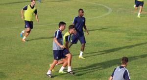 Jugadores del Recre en pleno entrenamiento | Recreativo de Huelva